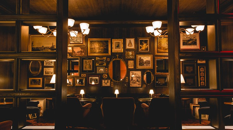 Bavette's Steakhouse & Bar has a hidden speakeasy-style lounge at the back of the restaurant offering a full menu and bar.