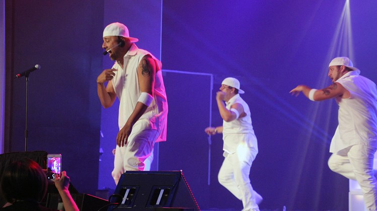 AIC Hotel Group held its annual Showstopper Awards for top-producing agents and tour operators at the Hard Rock Hotel Punta Cana. Ash Tembe, vice president of global field sales, leads an 'NSync-inspired lip sync performance on the first night.
