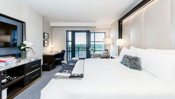 A guestroom at the InterContinental Washington D.C. — The Wharf.