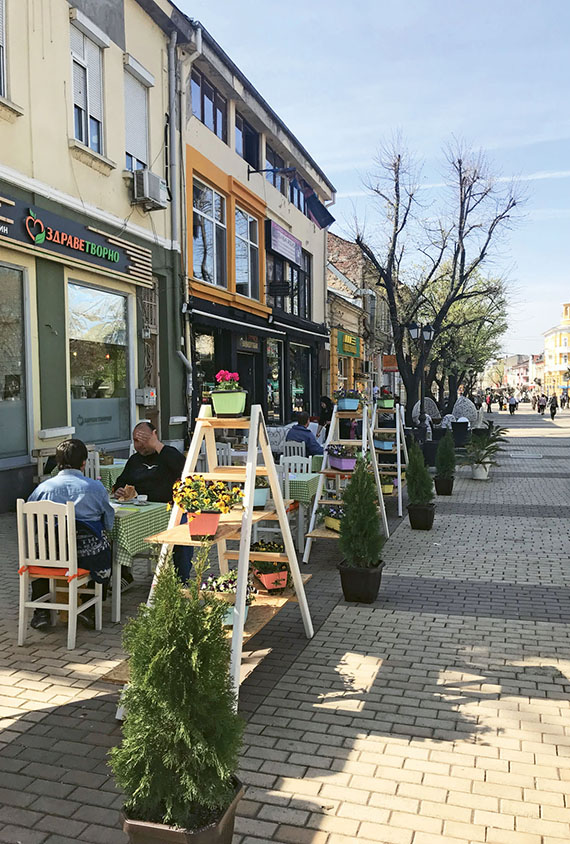 A welcoming promenade in Ruse, a midsize city that offers a taste of everyday, modern Bulgaria.