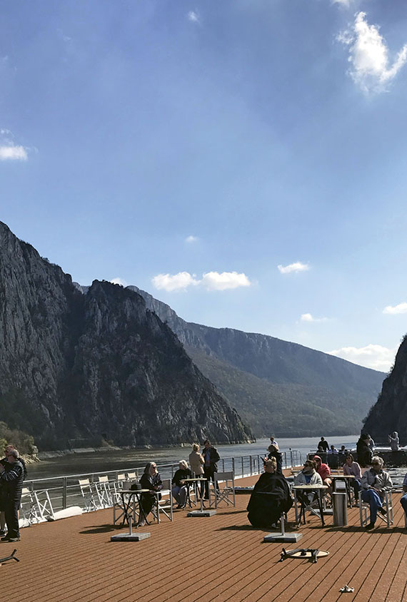 The Beatrice sails through the scenic Iron Gates gorge that separates Serbia and Romania.