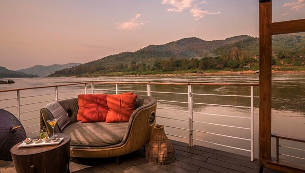 The Gypsy's open sun decks offer unobstructed views of the Mekong River.