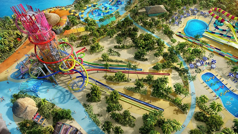 The reimagined CoCoCay will have several attractions, including a water park with full-day and half-day admission prices.