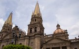 The Guadalajara Cathedral dates to the 16th century. Earthquakes destroyed the original towers and dome, which were rebuilt in 1854.