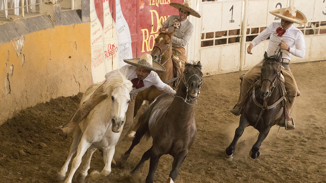 Destinations editor Eric Moya visited Guadalajara, Mexico, this month on a media trip that showcased the region's attractions. Pictured, a charro performs the paso de la muerte, or ''pass of death,'' at the Lienzo Charro Jalisco, the oldest charro arena in Mexico.