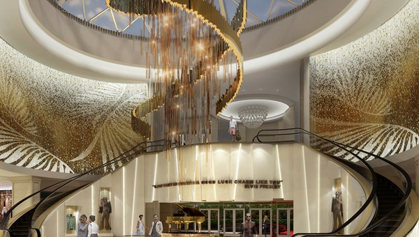 Artist's rendering of the re-imagined atrium at the Seminole Hard Rock Hotel & Casino in Tampa.