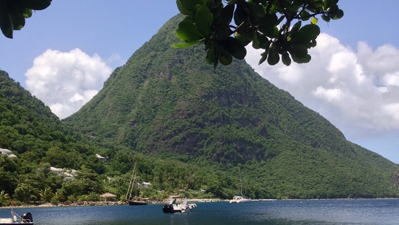 St. Lucia's signature Pitons.