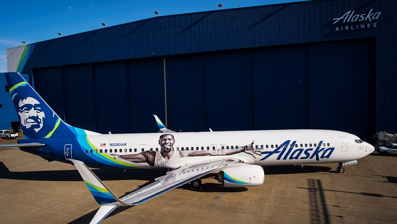 aa8a312323e Alaska Airlines introduces Kevin Durant plane  Travel Weekly