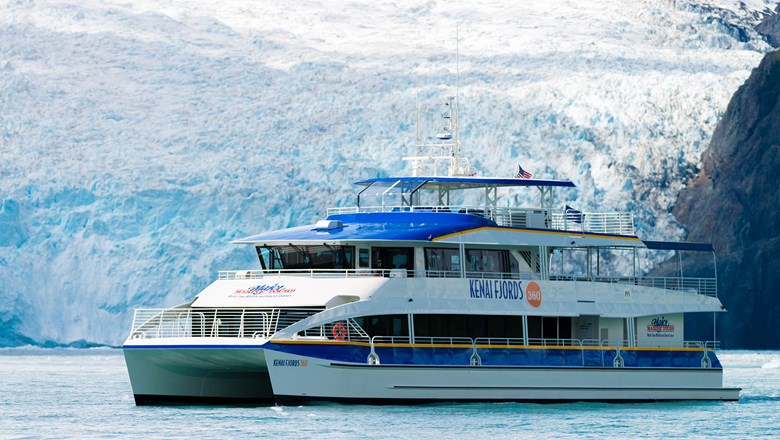 Major Marine Tours' Kenai Fjords 360 catamaran offers six-hour Kenai Fjords National Park cruises.