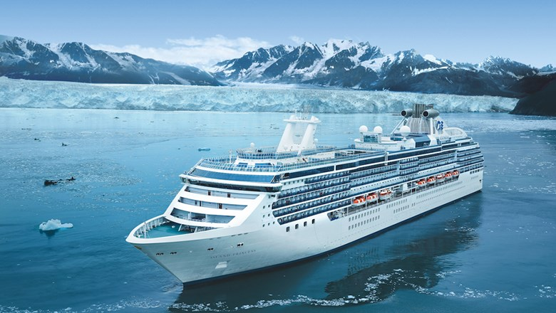 Princess Cruises' Island Princess in Glacier Bay.