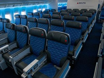 Delta's Premium Select cabin on the retrofitted Boeing 777.