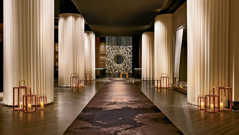 The Delano Las Vegas lobby. Delano is one of several brands owned by SBE.
