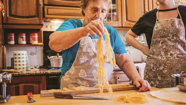 Airbnb Experiences offers Handmade Pasta With Grandma, a lesson with an Italian nonna in Rome. There are more than 13,000 Airbnb Experiences offered in 180 cities.