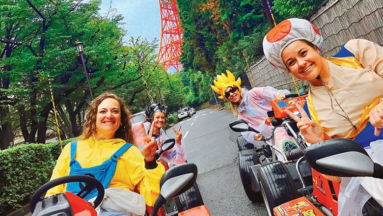 MariCar offers go-kart tours of Tokyo that are bookable online through TripAdvisor Experiences/Viator.
