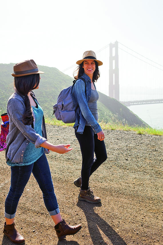 A coastal hike in San Francisco, one of Marriott's more than 100,000 activities in 1,000 destinations.