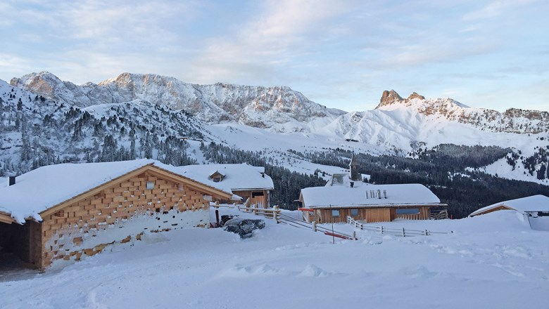 The Hotel Zallinger in the Alpe di Siusi ski area is accessible only by foot, snowcat or snowmobile in the winter.