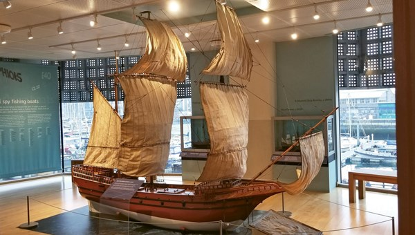 The Mayflower Museum in Plymouth, England, offers three floors of interactive exhibits.