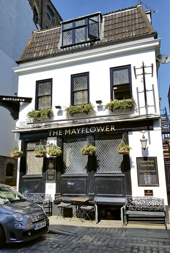 The Mayflower Pub in London's Rotherhithe district.
