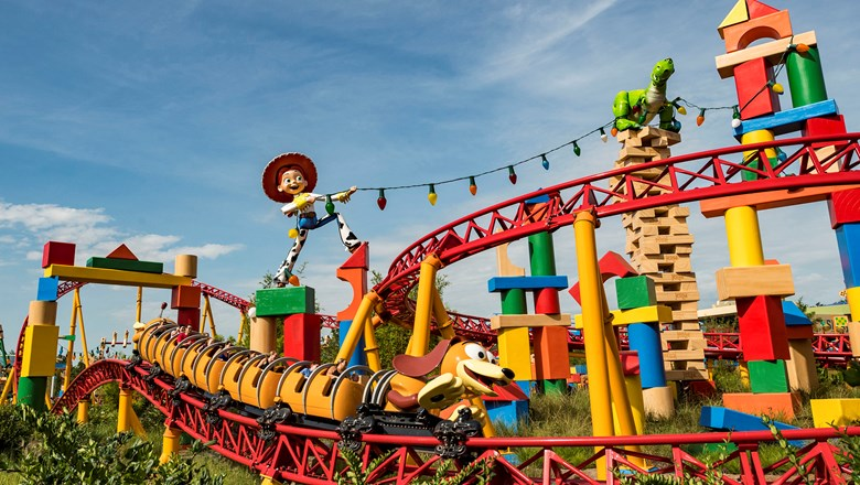 The Slinky Dog Dash rollercoaster in Toy Story Land at Disney's Hollywood Studios.
