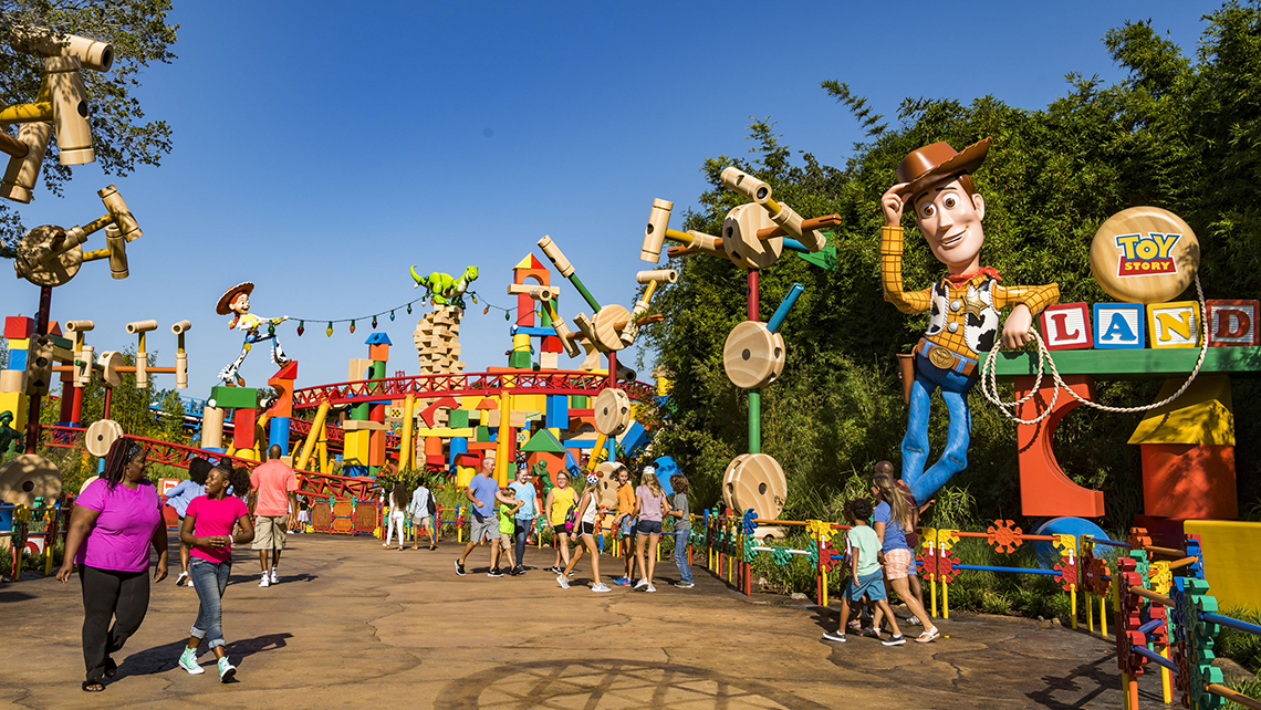 The entrance to Toy Story Land.