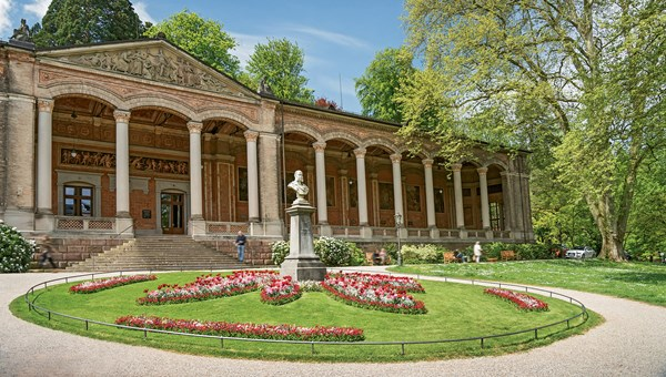 The Trinkhalle was a pump house in the 1800s; today it houses Baden-Baden's tourism information center.