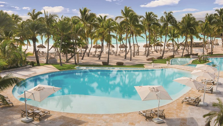Infinity pool at Eden Roc at Cap Cana in the Dominican Republic.