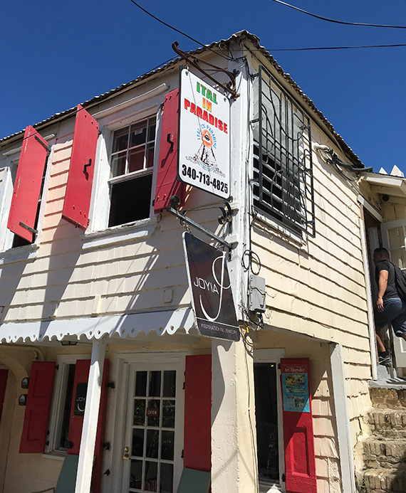 Ital in Paradise is a vegan-friendly restaurant in downtown Christiansted, St. Croix.