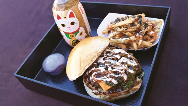 Kenji Burger on Kuhio Highway in east Kauai makes local grass-fed beef burgers with a Japanese twist.
