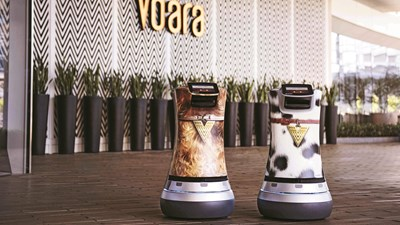 Robot butlers deliver snacks and delight guests at the Vdara