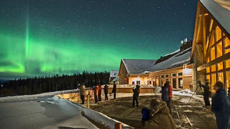 The Winter Wonders tour includes two nights in Talkeetna for aurora borealis viewing.