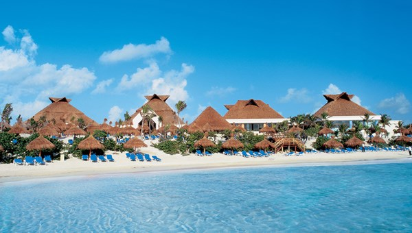 The beach at the Luxury Bahia Principe Akumal on the Riviera Maya.