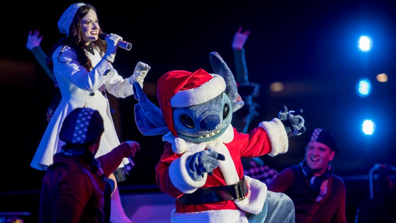 stitch stars in a totally tomorrowland christmas part of mickeys very merry christmas