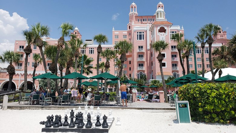 The unmistakable facade of the Don CeSar, which opened in 1928.