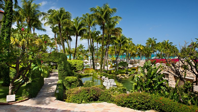 Gardens and grounds are a focal point of the Hyatt Regency Aruba Resort Spa & Casino.