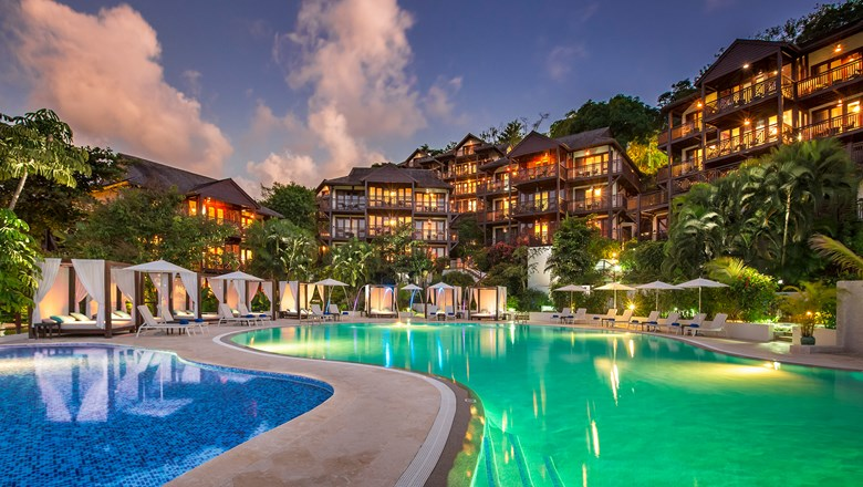 Marigot Bay Resort and Marina in St. Lucia.