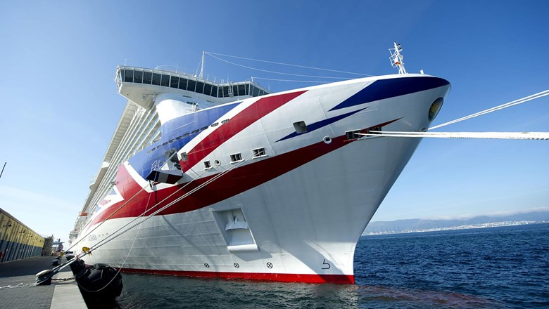 The P&O Cruises flagship Britannia.
