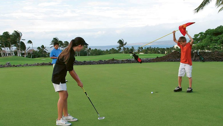 The WikiWiki Course at Mauna Lani Bay Hotel & Bungalows was designed for families and young golfers.