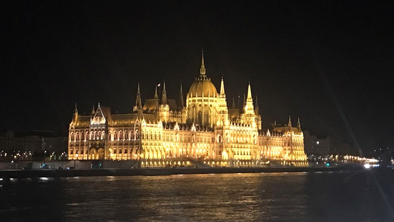 The Hungarian Parliament in Budapest, a major attraction on Danube cruises.