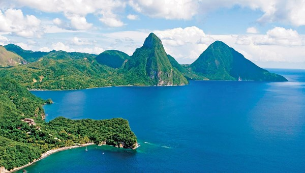 The Cap Maison resort in St. Lucia offers several activities involving the Pitons.