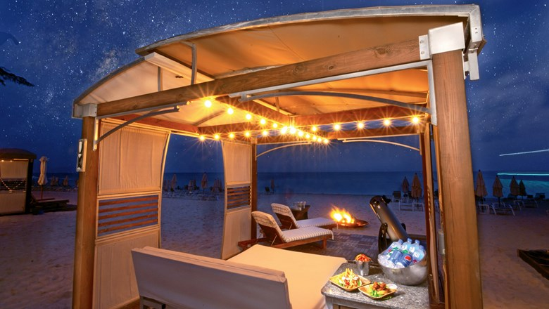 The Westin Grand Cayman offers stargazing through a telescope from a cushioned lounge chair.