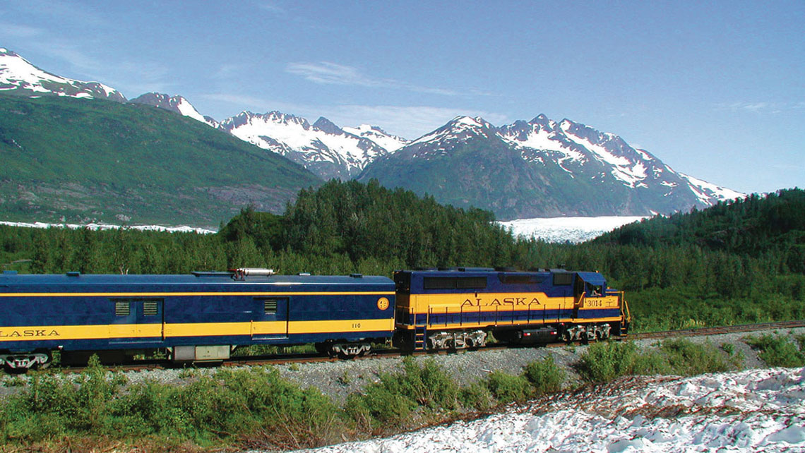The Alaska Railroad Coastal Classic train.