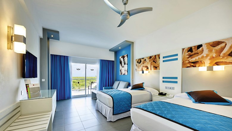 A double room at the Riu Dunamar in the growing Costa Mujeres region of Cancun.