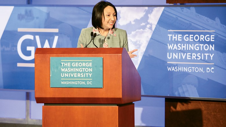 Seleni Matus, director of George Washington University's International Institute of Tourism Studies, hosted the Overtourism: Seeking Solutions event.