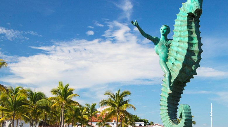 Destinations editor Eric Moya visited Puerto Vallarta this month as a guest of the Fiesta Americana Puerto Vallarta. Pictured, the Caballito statue along the city's Malecon promenade.