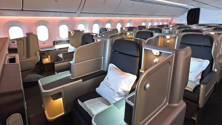 Business class on Qantas' Boeing 787-9 Dreamliner.
