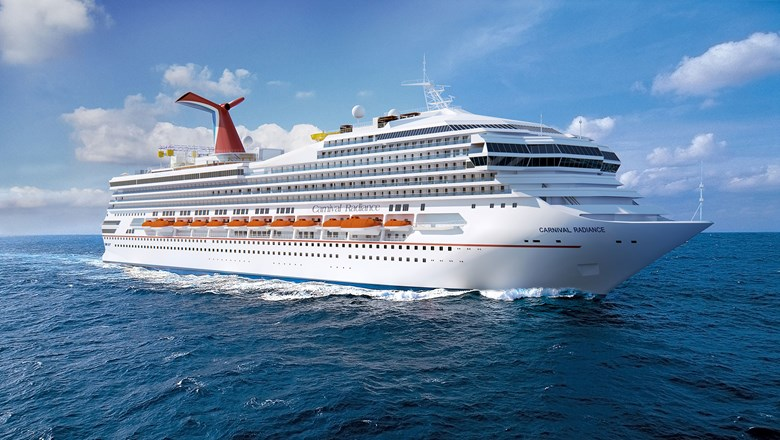 The Carnival Victory will become the Carnival Radiance, but not in late April as previously planned.