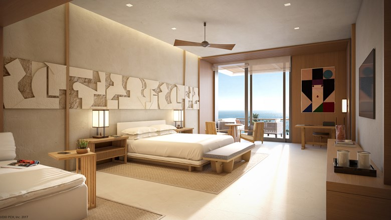 All Nobu Hotel Los Cabos rooms will have bathtubs/soaking tubs and walk-in showers, 65-inch TVs and private balconies.