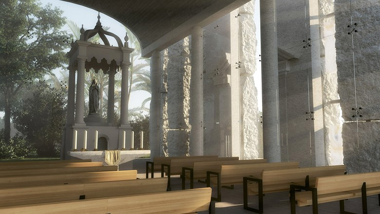 The chapel at the upcoming TRS Coral Hotel in Costa Mujeres.