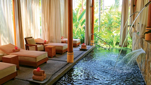 The relaxation pool at the Nakawe Spa at the Fiesta Americana Puerto Vallarta.