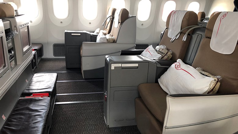 The business class on Kenya Airways' Boeing 787.